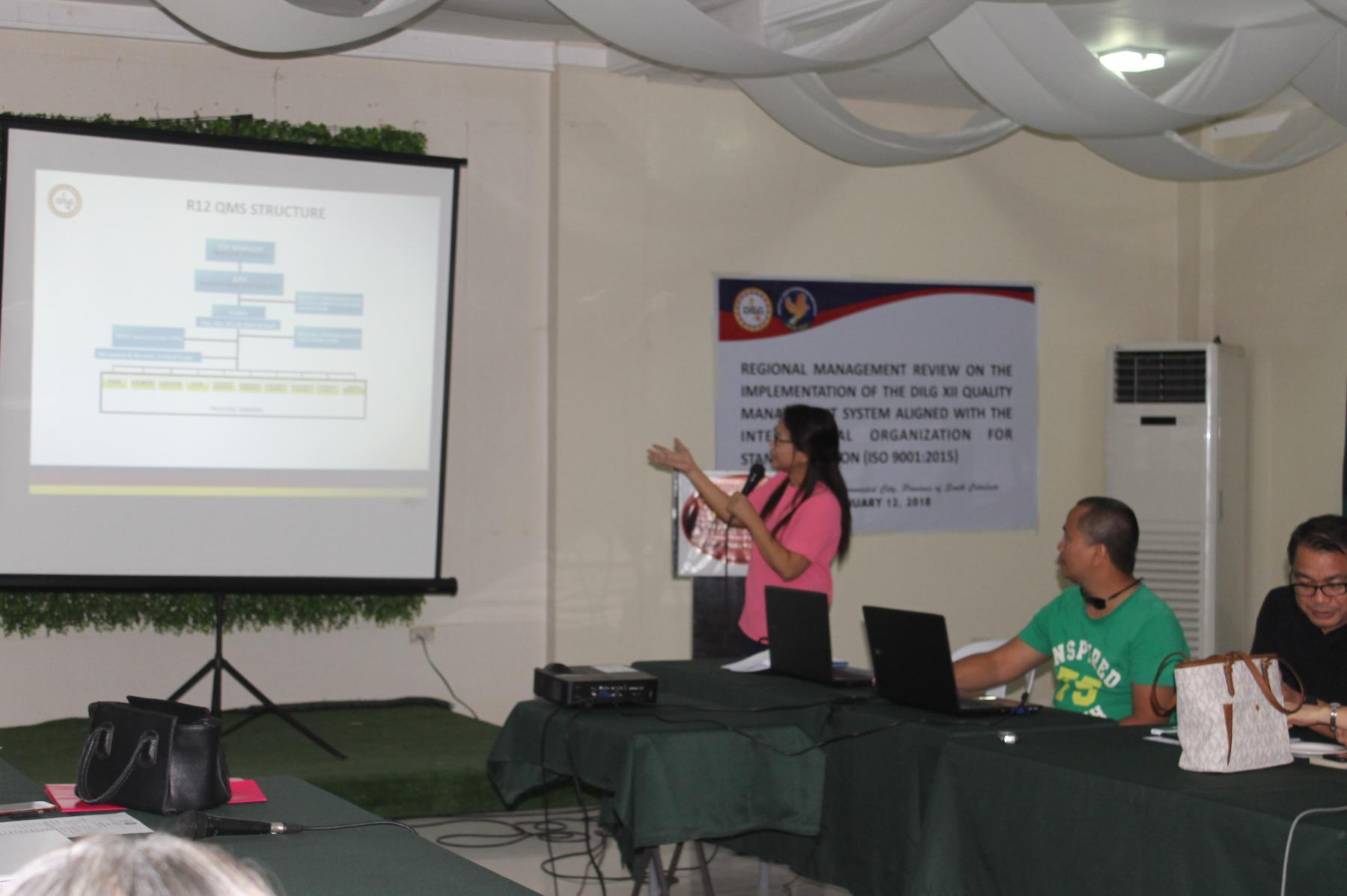DILG XII Conducts Management Review on the Implementation of Quality